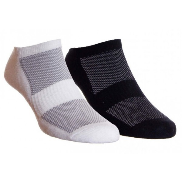 HJ Hall Sports Black & White Bamboo Trainer Liner Socks With Elastine For Comfort, Cushioned Sole & Arch Support2Pr Pack Fits Sizes 11-13 (6-11 Also Available SKU 1410)