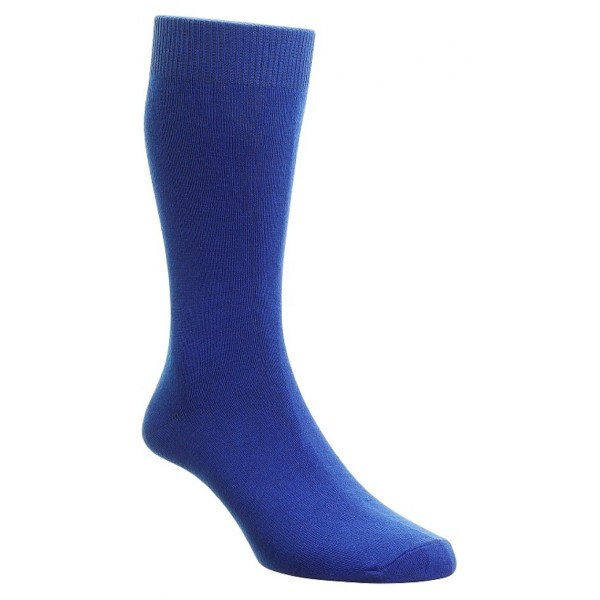 HJ Hall Bright Royal Blue Luxury Cotton Rich Sock Fits Sizes 6-11