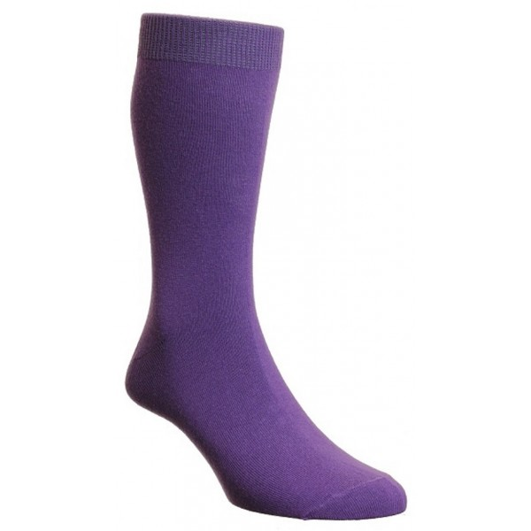 HJ Hall Cassis Luxury Cotton Rich Sock Fits Sizes 6-11
