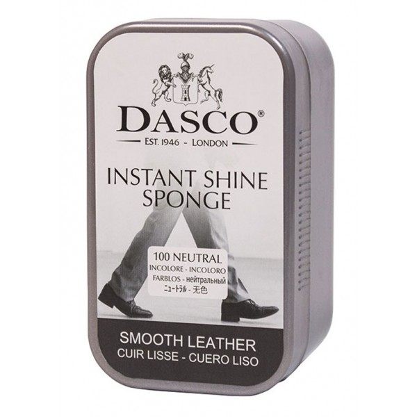 Dasco Instant Shoe Shine Sponge In Plastic Travel Case For That Just Cleaned Look!