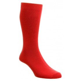 HJ Hall Bright Red Luxury Cotton Rich Sock Fits Sizes 6-11 | Ladies Larger Sized Shoes