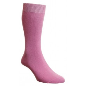 HJ Hall Pastel Pink Luxury Cotton Rich Sock Fits Sizes 6-11 | Ladies Larger Sized Shoes