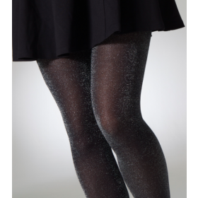 """Gipsy Fashion 30 Denier Super Sparkle Black Tights (Up To 60"""" Hips) 1Pr Pack 