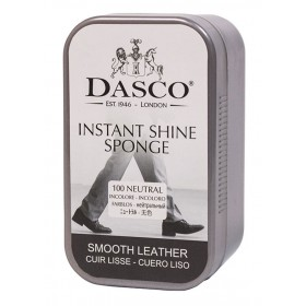 Dasco Instant Shoe Shine Sponge In Plastic Travel Case For That Just Cleaned Look! | Ladies Larger Sized Shoes