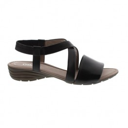 Gabor Fashion Ensign Soft Nappa Leather Crossover Strap Sandal With An Elasticated Rear Ankle Strap & Cushioned Contoured Footbed On A Moulded Rubber Sole Unit